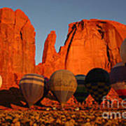 Dawn Flight In Monument Valley Poster