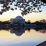 Dawn Over Jefferson Memorial Poster