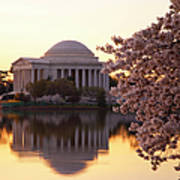 Dawn Over The Jefferson Memorial Poster