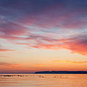 Dawn Sleeping Bear Bay Poster
