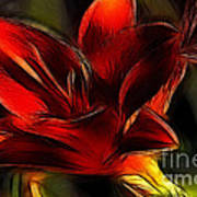 Day Lily Fractal Poster