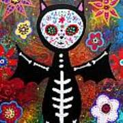 Day Of The Dead Bat Poster