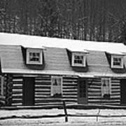 Days Of Yore Log Cabin Poster