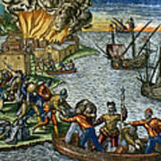 De Bry: Chicora, 1590 Poster