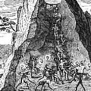 De Bry: Potosi, 1590 Poster