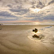 Debris On The Beach - Hunting Island Sc Poster