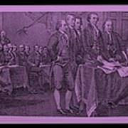 Declaration Of Independence In Pink Poster