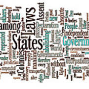 Declaration Of Independence Word Cloud Poster
