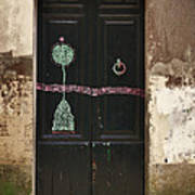 Decorated Door Poster