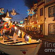 Decorated Fishing Boats Poster