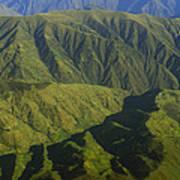 Deep Canyons Drain To Rio Apurimac Poster