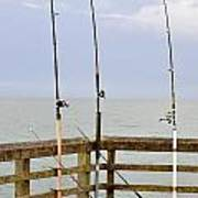 Deep Sea Fishing Off Of The Surf City Pier Poster