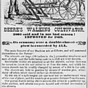 Deere Plow, 1869 Poster