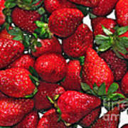 Deliciously Sweet Strawberries Poster