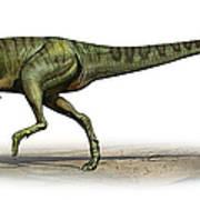 Deltadromeus Agilis, A Prehistoric Era Poster