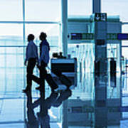 Departure Gate At The Airport Poster