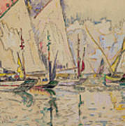 Departure Of Tuna Boats At Groix Poster