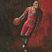 Derrick Rose Poster by Kerstin Carrion