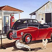 Desert Gas Station Poster
