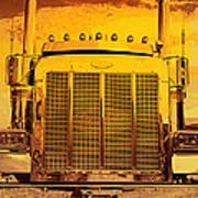 Desert Hauler Abstract Poster