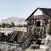 Deserted Desert Dwelling Poster