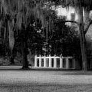 Destrehan Plantation In Black And White Poster
