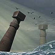 Destruction Of Atlantis Poster