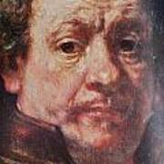 Detail From Portrait Of The Artist Rembrandt Canady Portfolio 9 Poster