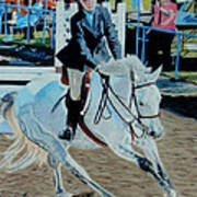 Determination - Horse And Rider - Horseshow Painting Poster