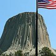 Devil's Tower Old Glory Poster