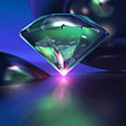 Diamond On Purple Poster