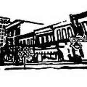 Dickson Street In Fayetteville Ar Poster