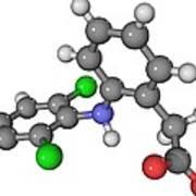 Diclofenac Drug Molecule Poster