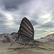 Dimetrodon Grandis Traverses Earth Poster by Walter Myers