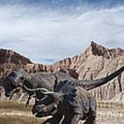 Dino's In The Badlands Poster