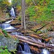 Distant Ozone Falls And Rapids In Autumn Poster