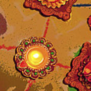 Diwali Colors By Candle Poster
