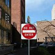 Do Not Enter Poster