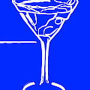 Do Not Panic - Drink Martini - Blue Poster by Wingsdomain Art and Photography