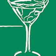 Do Not Panic - Drink Martini - Green Poster