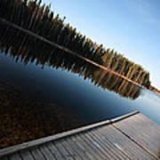 Dock On Northern Manitoba Lake Poster