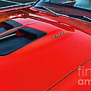 Dodge Super Bee Hood  In Red Poster