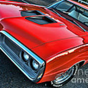 Dodge Super Bee In Red Poster