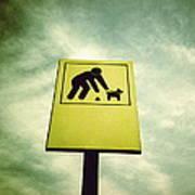 Dog Fouling Sign Poster