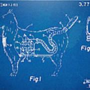 Doggie Vacuum Patent Artwork Poster