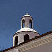 Dome And Cloud Mineral De Pozos Mexico Poster