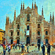 Dome In Milan Poster