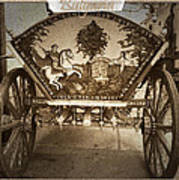 Donkey Cart Poster by Cliff Norton