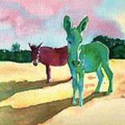 Donkeys With An Attitude Poster