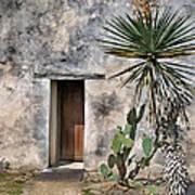 Door In Spanish Mission Building Poster